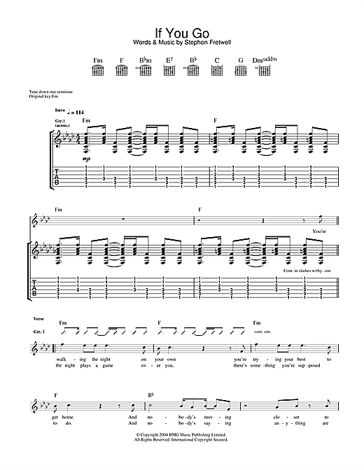 If You Go (Guitar Tab)