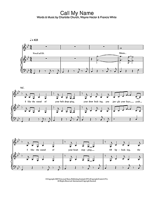 Call My Name Sheet Music