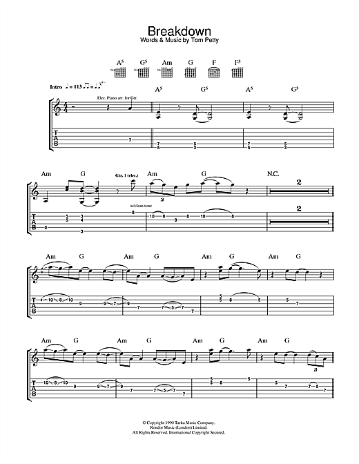Breakdown Sheet Music