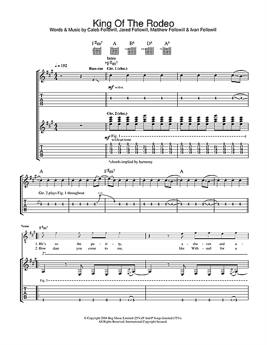 King Of The Rodeo Sheet Music