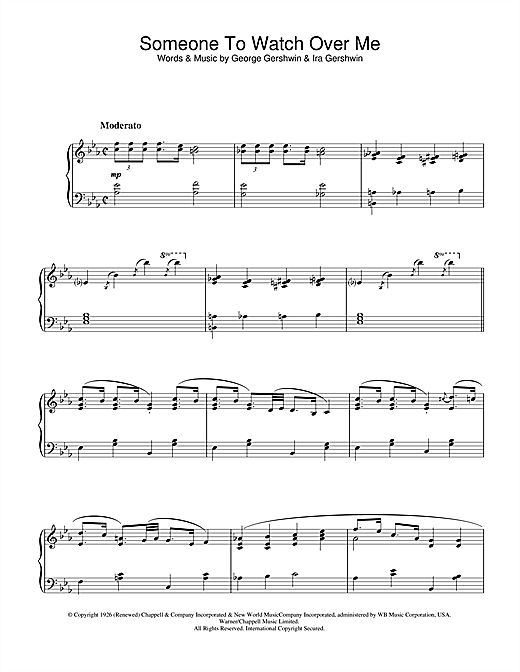 Someone To Watch Over Me (from Oh, Kay!) (Piano Solo)