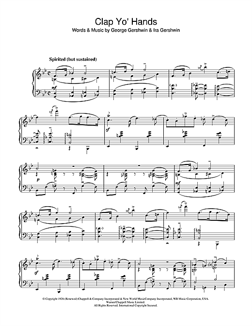Clap Yo' Hands Sheet Music