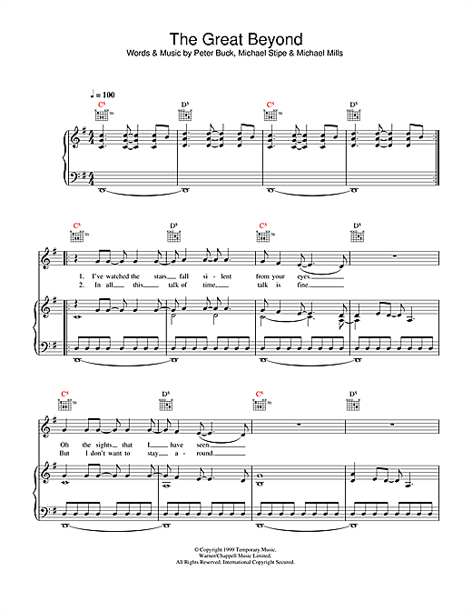 The Great Beyond Sheet Music