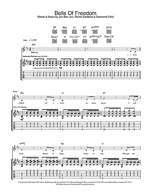 Bells Of Freedom Sheet Music