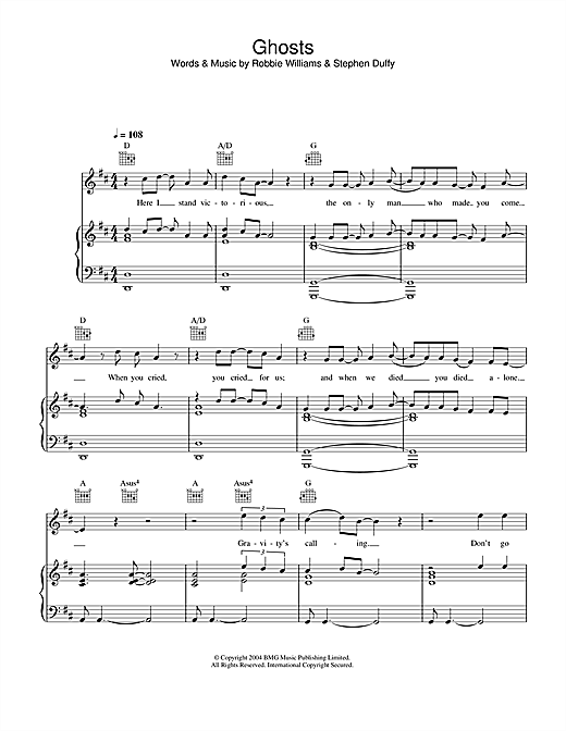 Ghosts Sheet Music