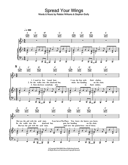 Spread Your Wings Sheet Music