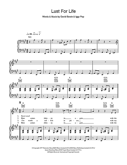 Lust For Life Sheet Music