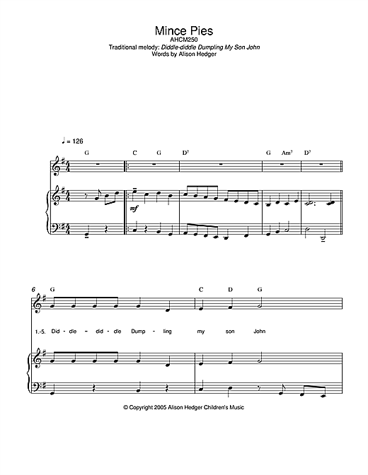 Mince Pies Sheet Music