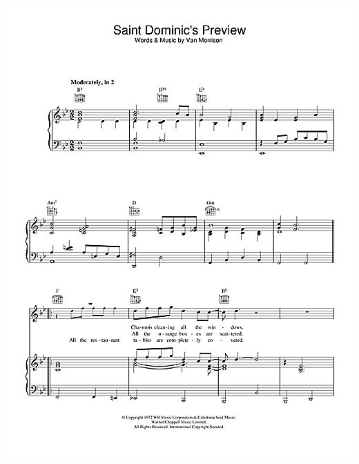 Saint Dominic's Preview Sheet Music
