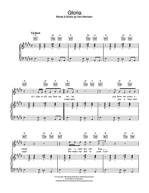 Gloria Sheet Music