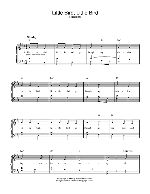 Little Bird, Little Bird Sheet Music