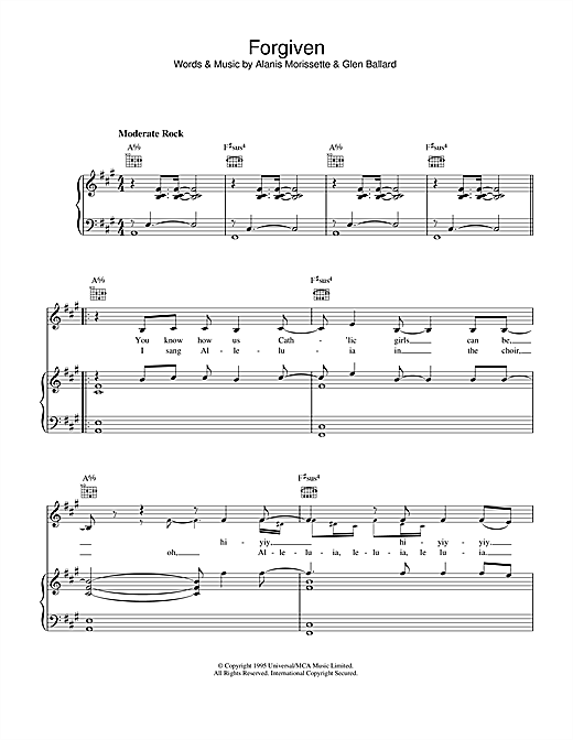 Forgiven Sheet Music