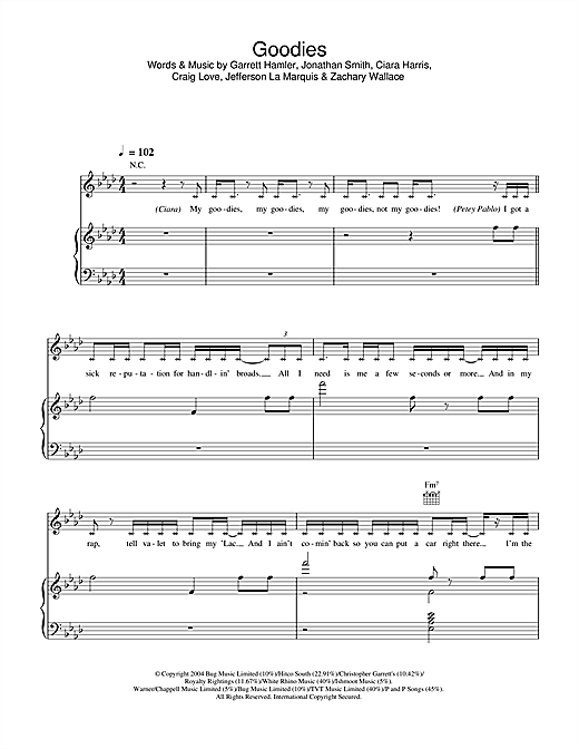 Goodies Sheet Music