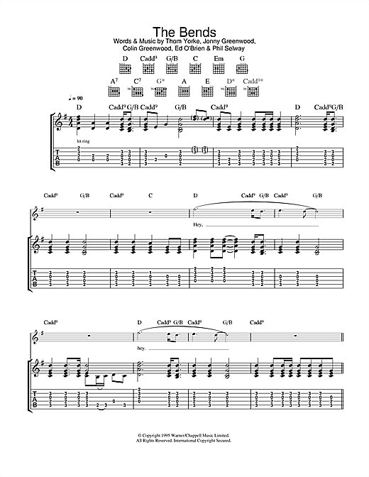 The Bends Sheet Music