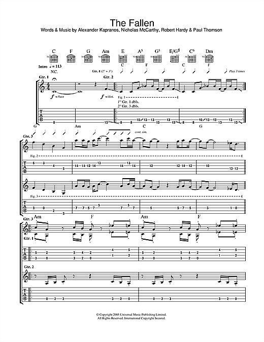 The Fallen Sheet Music