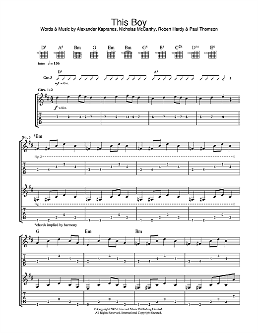 This Boy Sheet Music