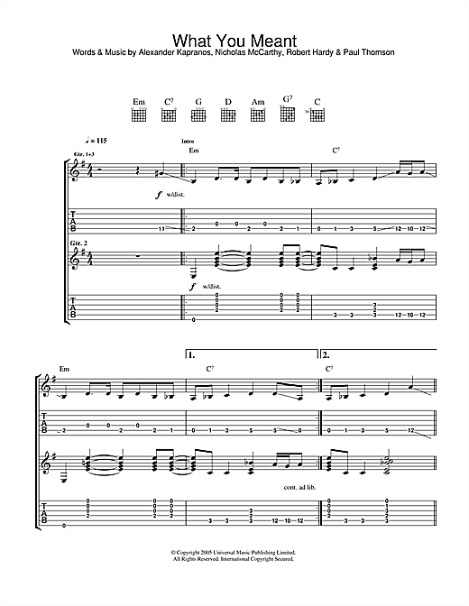 What You Meant Sheet Music
