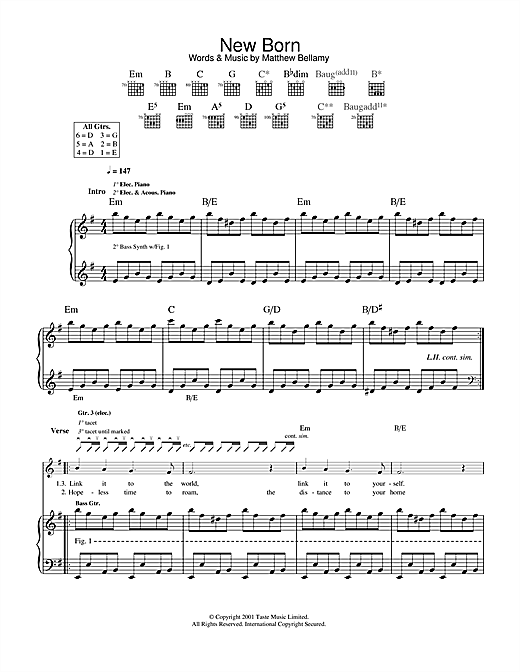 New Born Sheet Music