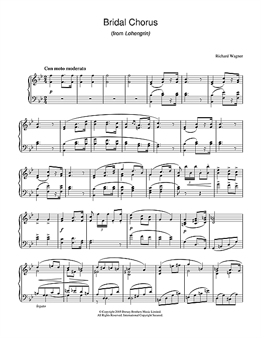 Bridal Chorus (from Lohengrin) Sheet Music