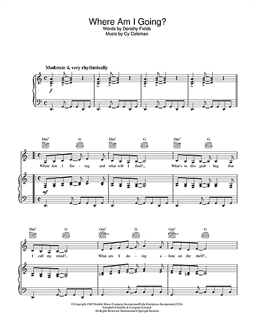 Where Am I Going? Sheet Music