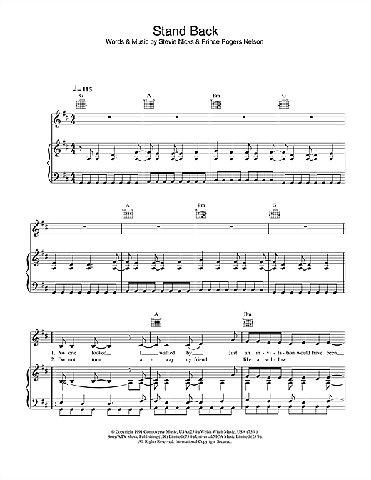Stand Back Sheet Music