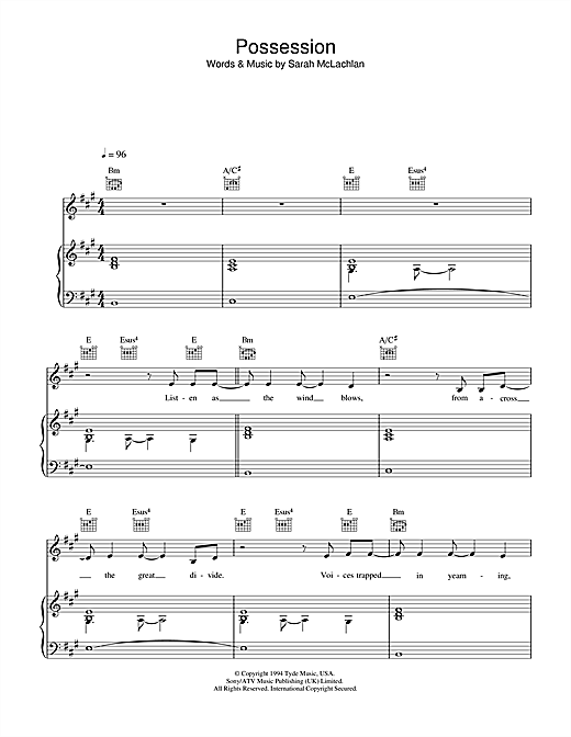 Possession Sheet Music