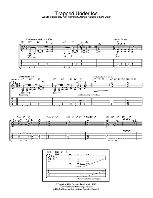 Trapped Under Ice Sheet Music