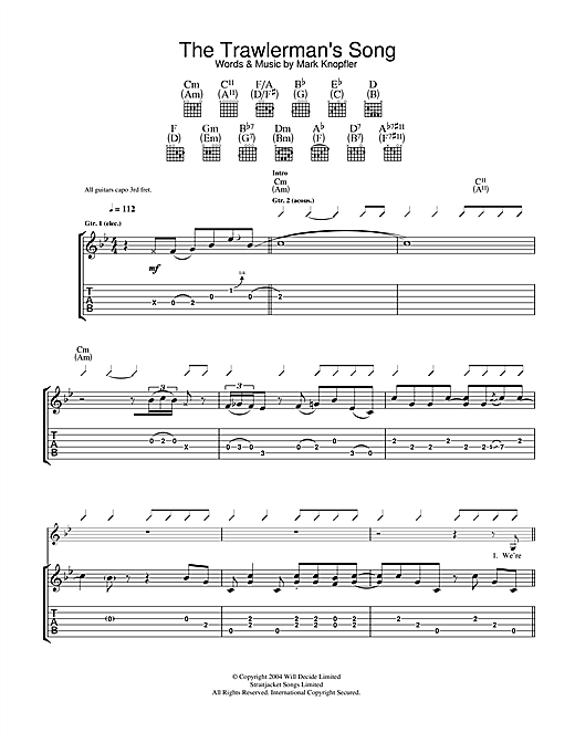 The Trawlerman's Song (Guitar Tab)