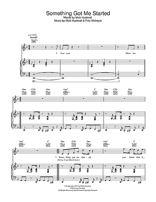 Something Got Me Started Sheet Music
