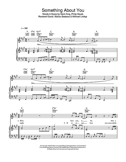 Something About You Sheet Music
