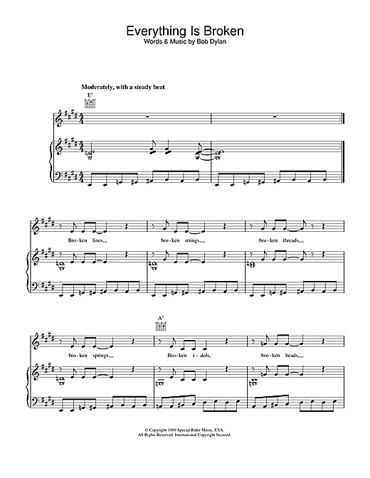 Everything Is Broken Sheet Music