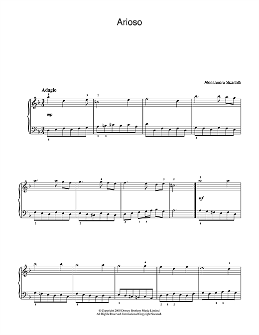 Arioso Sheet Music