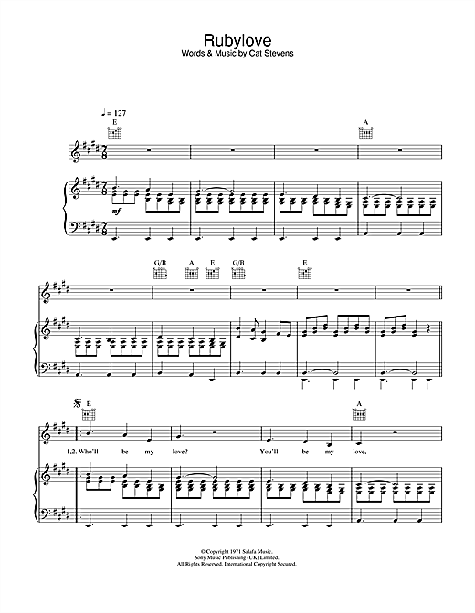 Rubylove Sheet Music