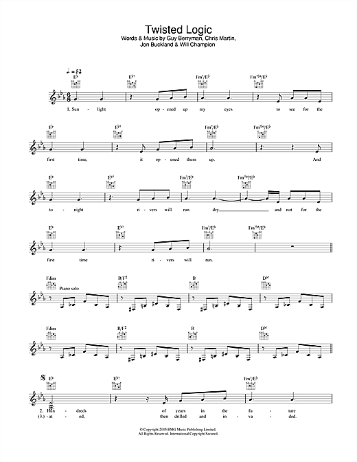 Twisted Logic (Lead Sheet / Fake Book)