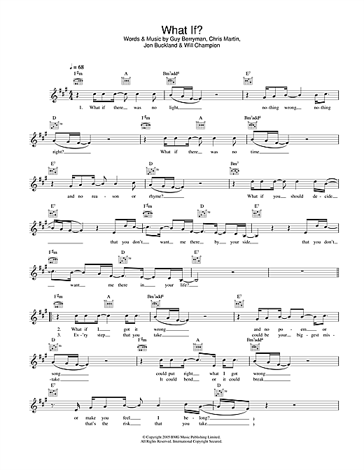 What If? (Lead Sheet / Fake Book)