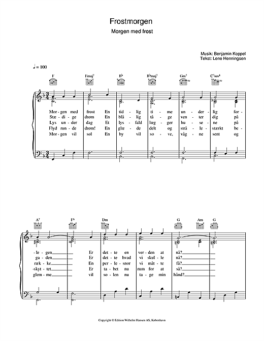 Frostmorgen (Piano, Vocal & Guitar (Right-Hand Melody))
