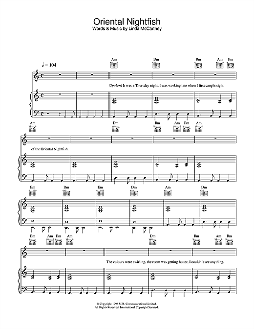 Oriental Nightfish Sheet Music