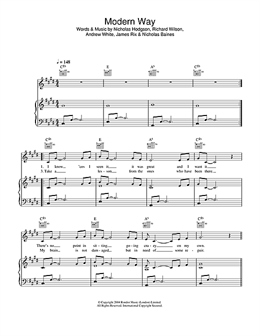 Modern Way (Piano, Vocal & Guitar (Right-Hand Melody))