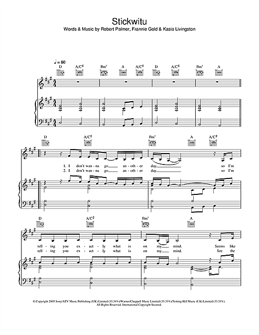 Stickwitu Sheet Music