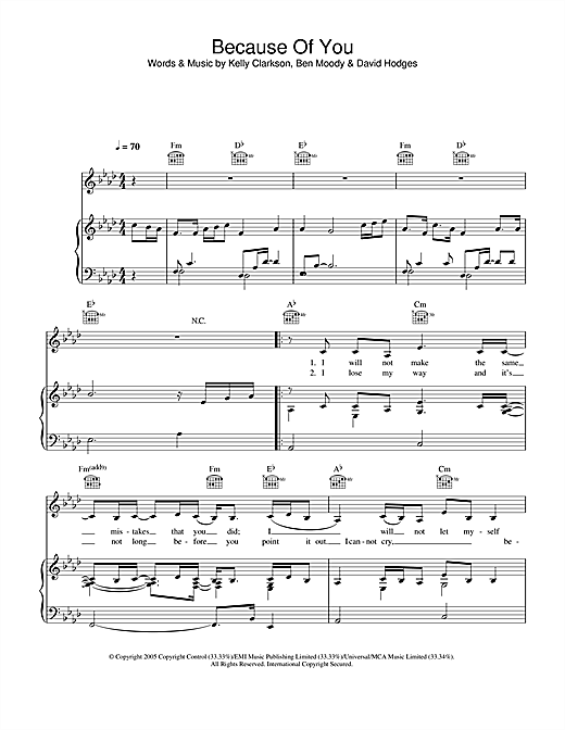 Because Of You Sheet Music