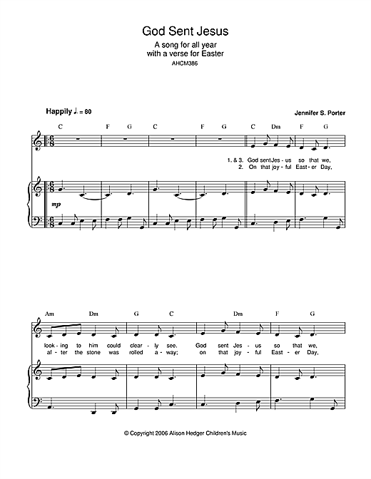 God Sent Jesus Sheet Music