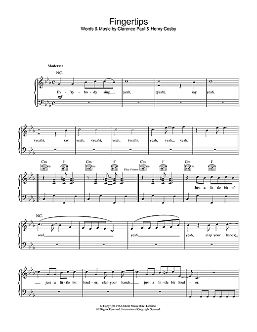 Fingertips Sheet Music