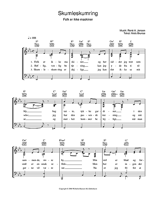 Skumleskumring Sheet Music