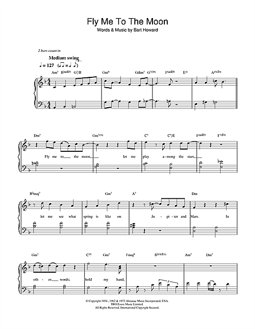 Fly Me To The Moon (In Other Words) (Easy Piano) - Print Sheet Music