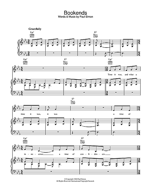 Bookends Sheet Music