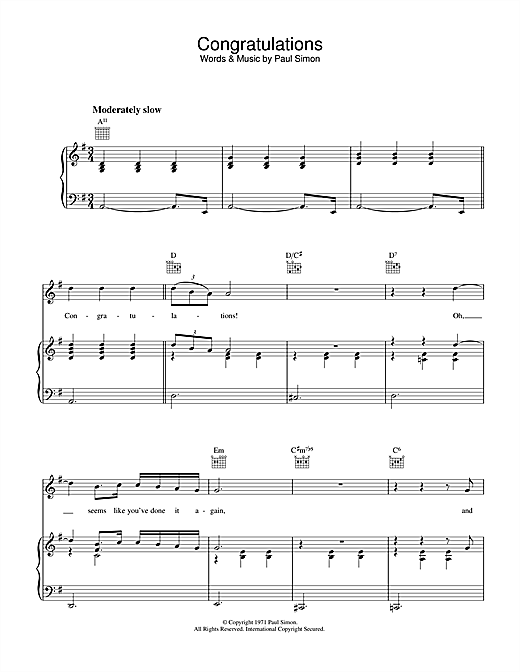 Congratulations Sheet Music