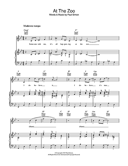 At The Zoo Sheet Music