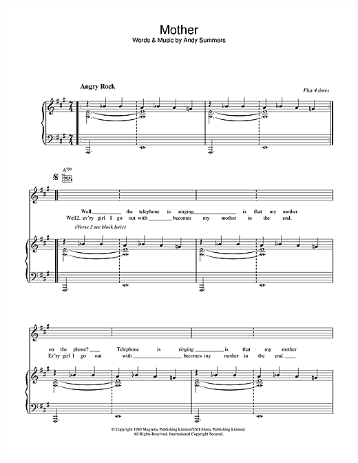 Mother Sheet Music