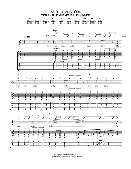 She Loves You Sheet Music