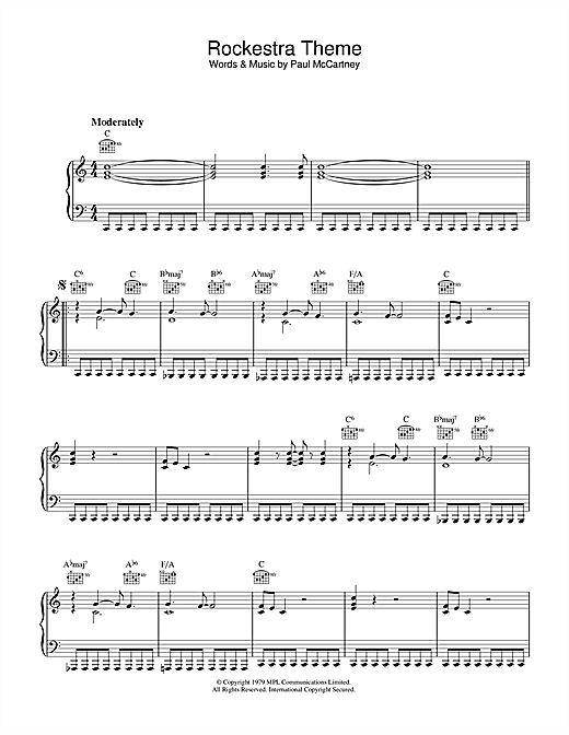 Rockestra Theme Sheet Music